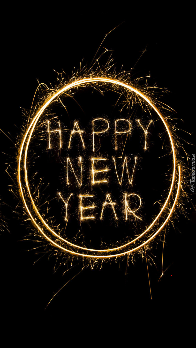 Ognisty napis Happy New Year