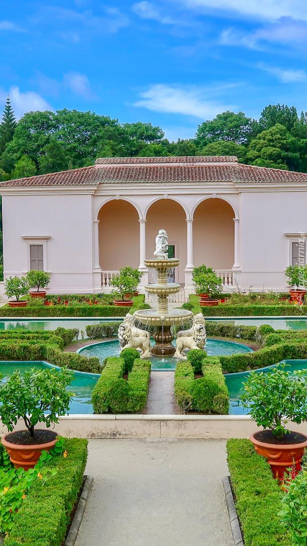Ogród Hamilton Gardens w Nowej Zelandii
