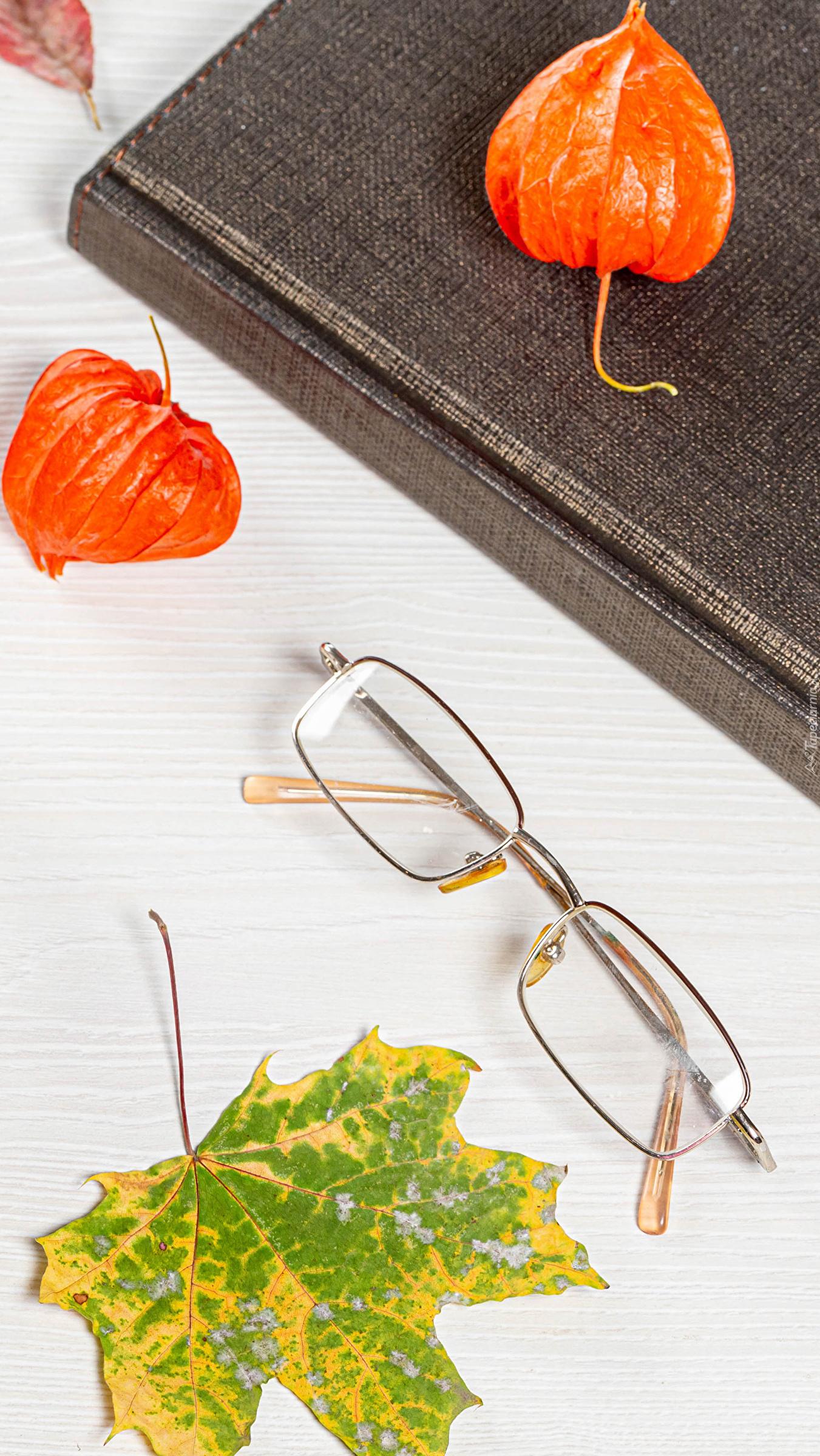 Okulary obok książki