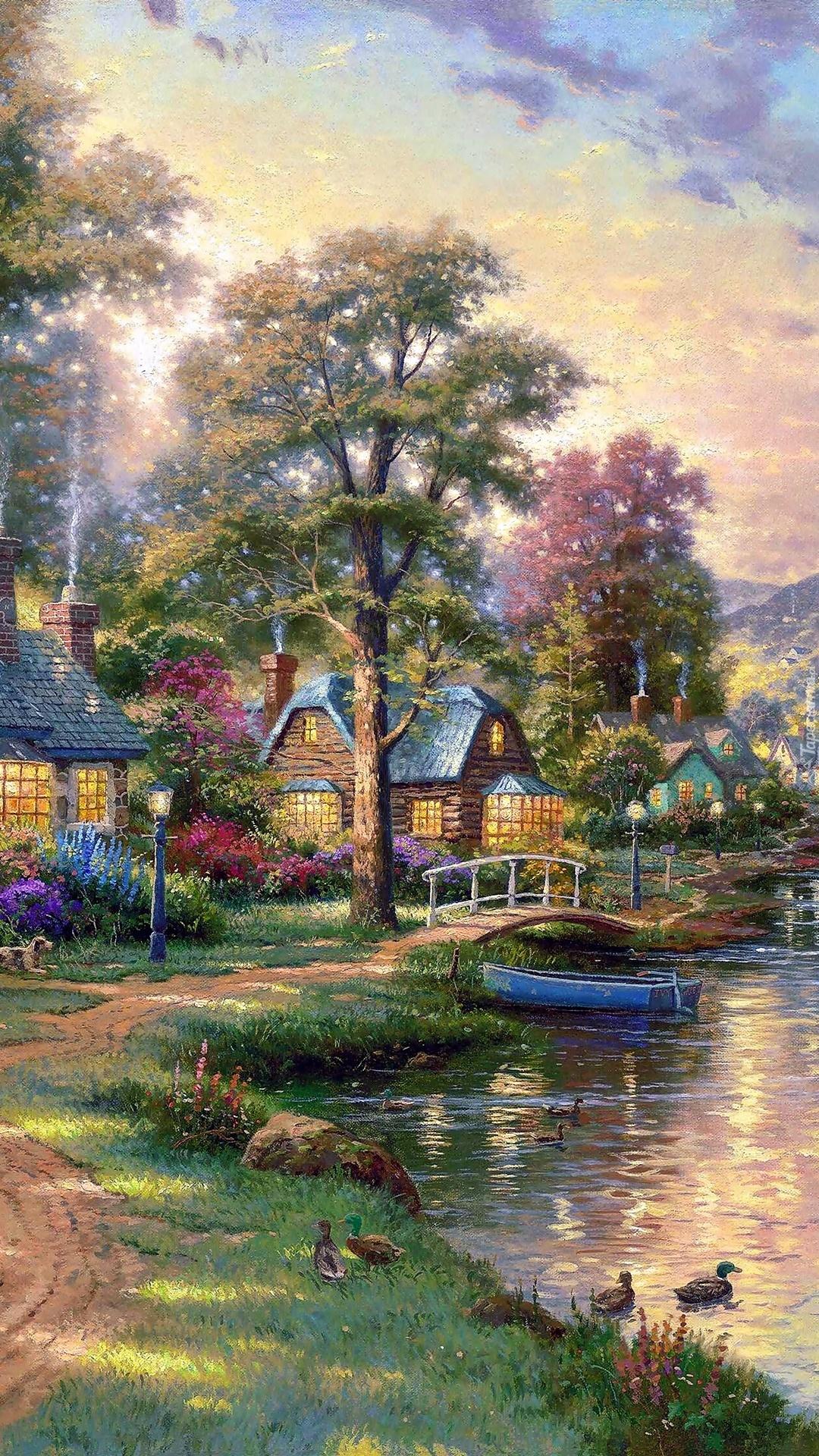Osiedle domków nad jeziorem