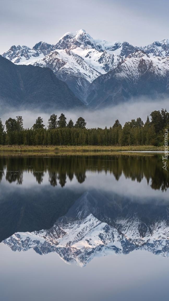 Ośnieżona góra Cooka