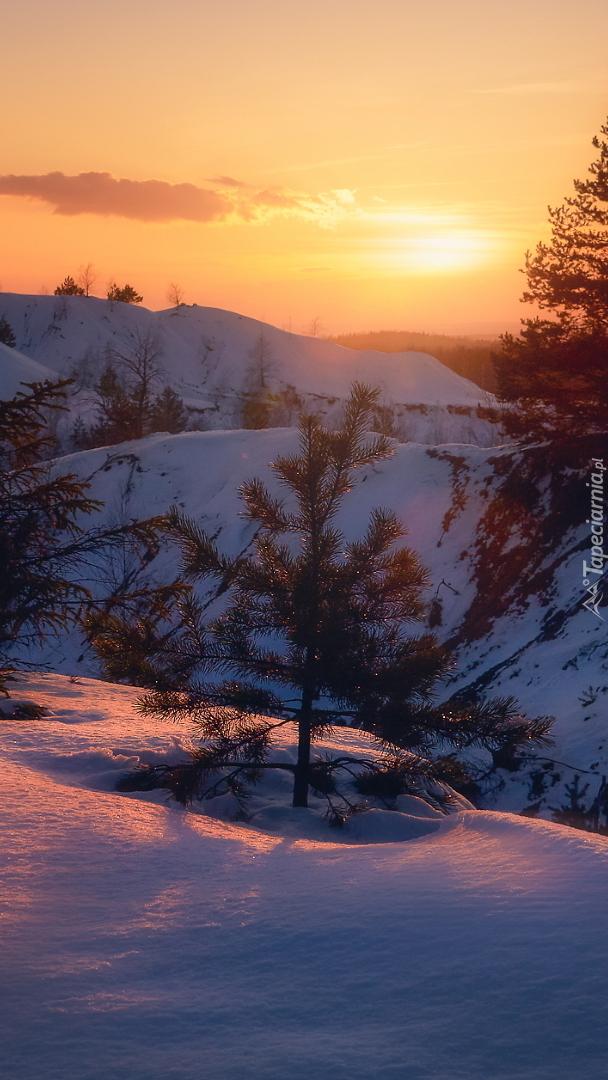 Ośnieżone wzgórza