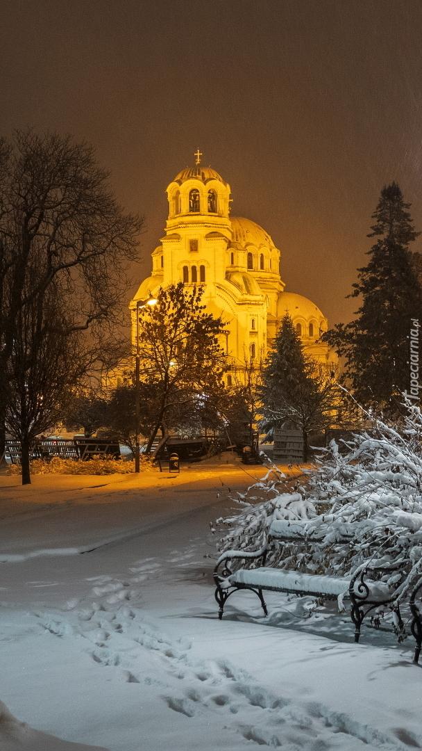 Oświetlona cerkiew