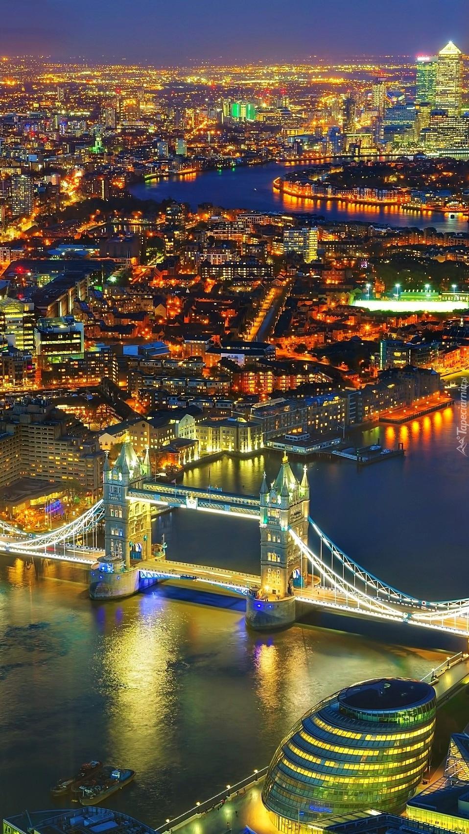 Panorama Londynu nocą