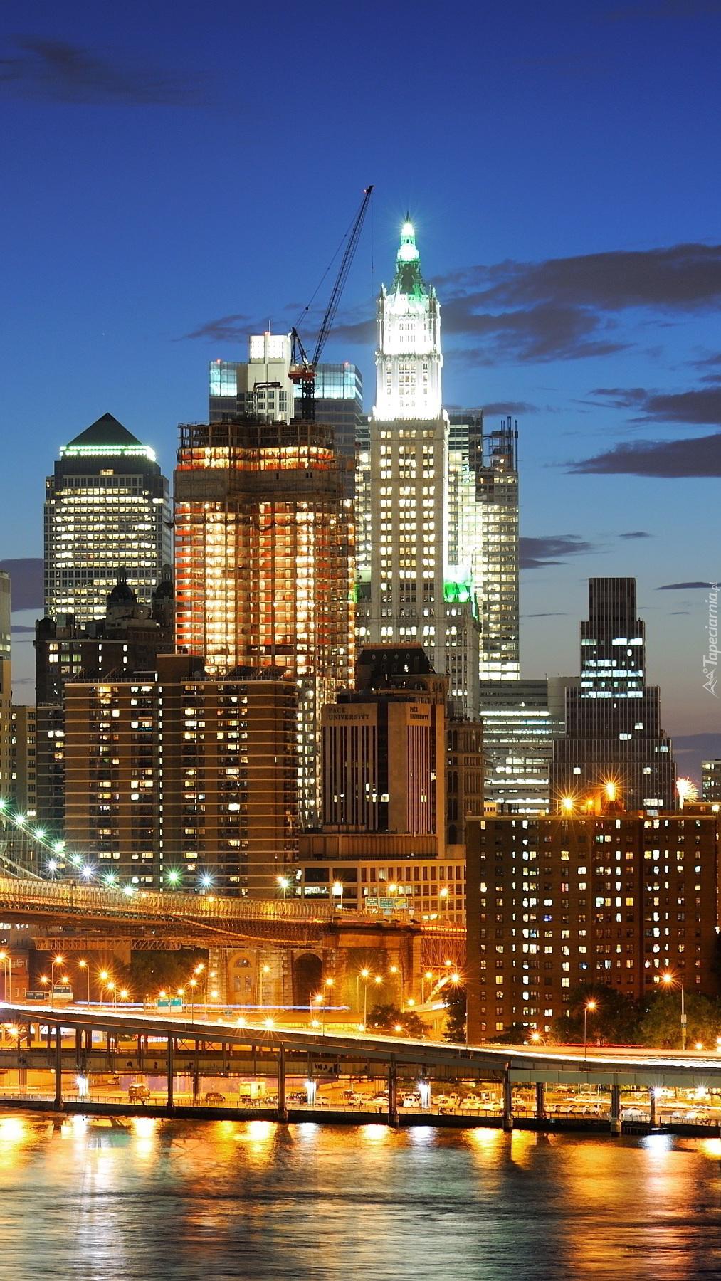 Panorama Manhattanu w Nowym Yorku