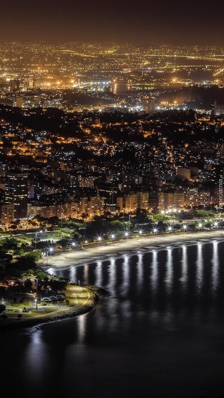 Panorama Rio de Janeiro nocą