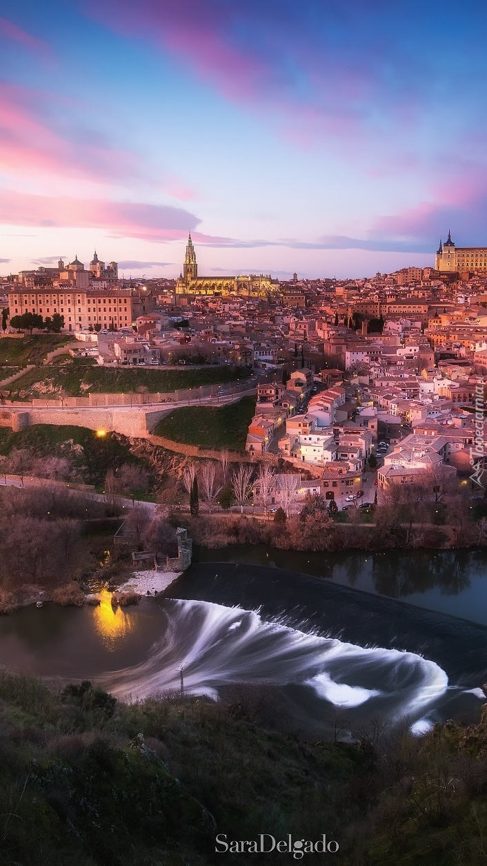 Panorama Toledo nad Tagiem w Hiszpanii