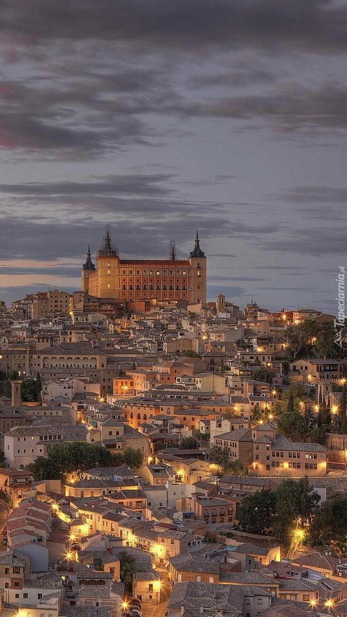 Panorama Toledo o zmierzchu