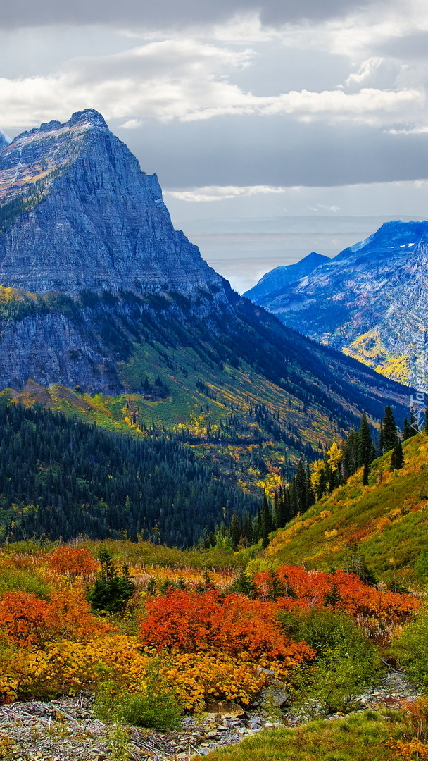 Park Narodowy Glacier jesienią