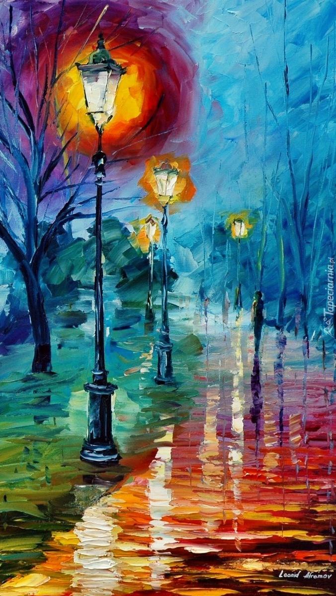 Parkowe latarnie