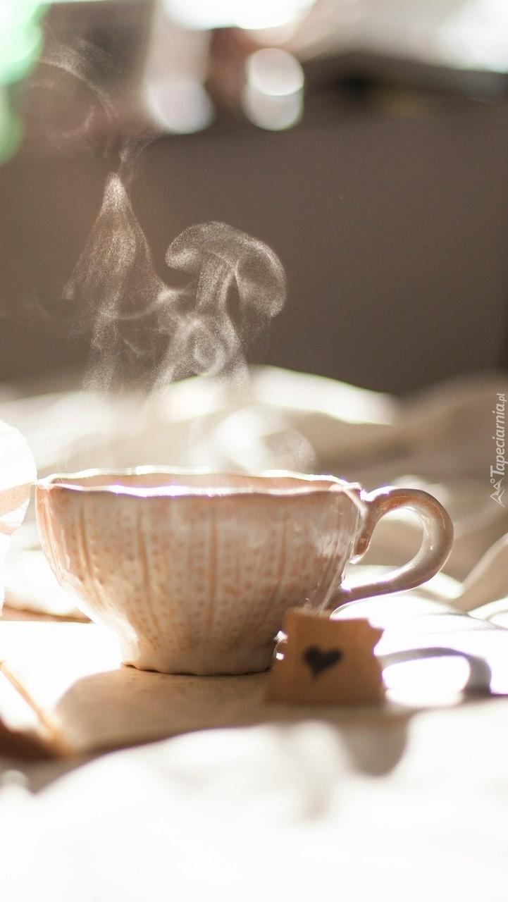 Parująca herbatka
