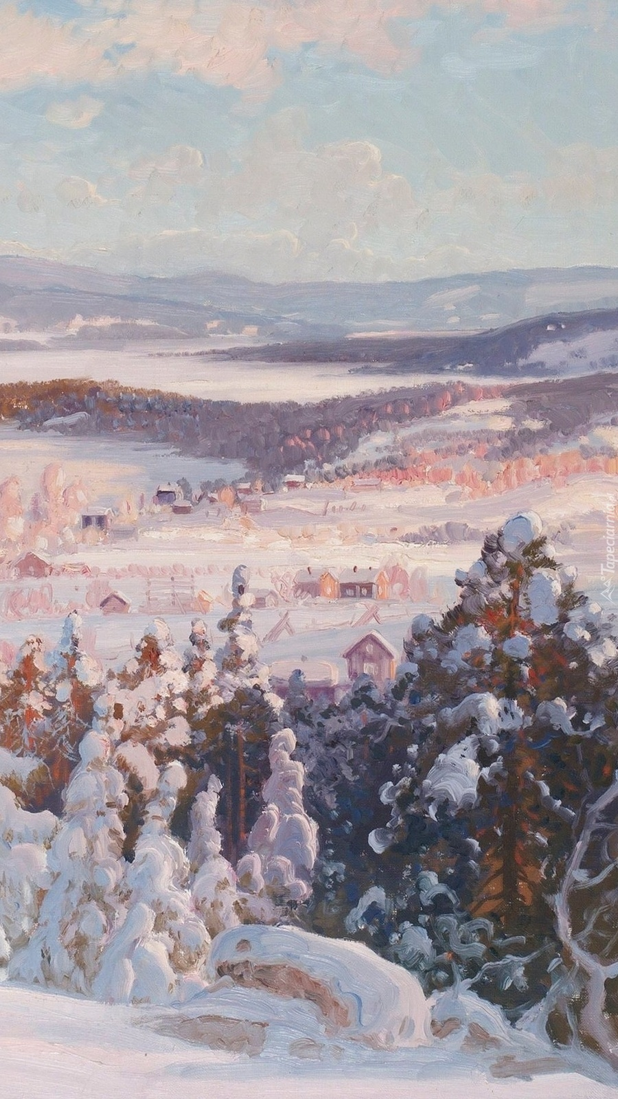 Pejzaż zimą Carla Augusta Brandta
