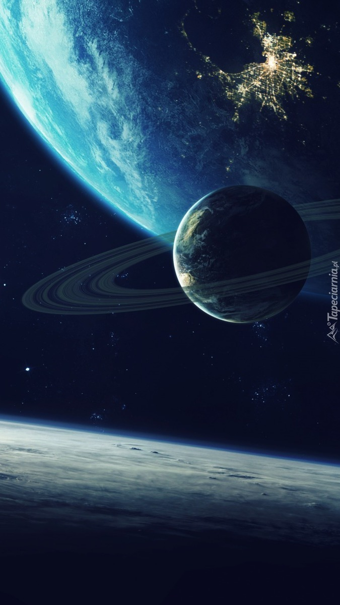 Planeta w kosmosie