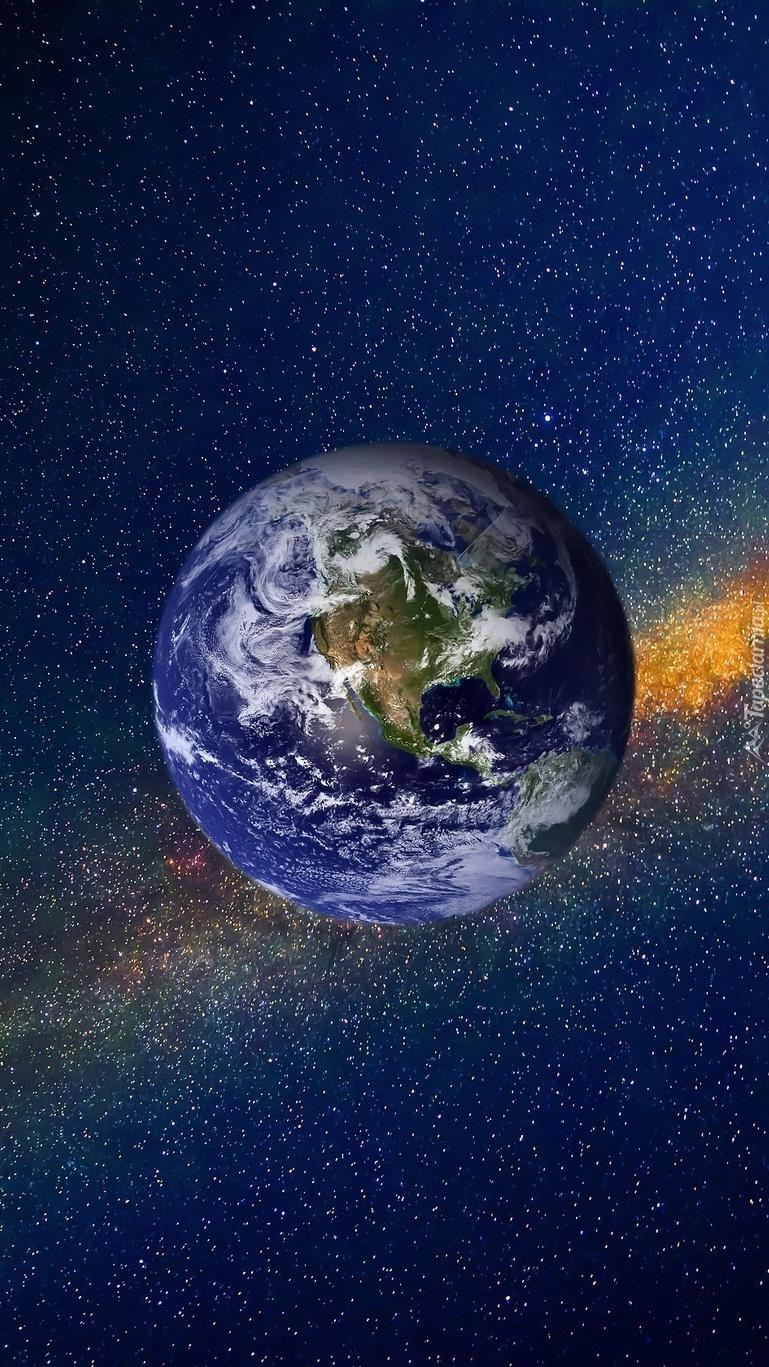 Planeta Ziemia pośród gwiazd