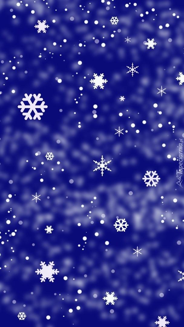 Płatki śniegu i gwiazdki