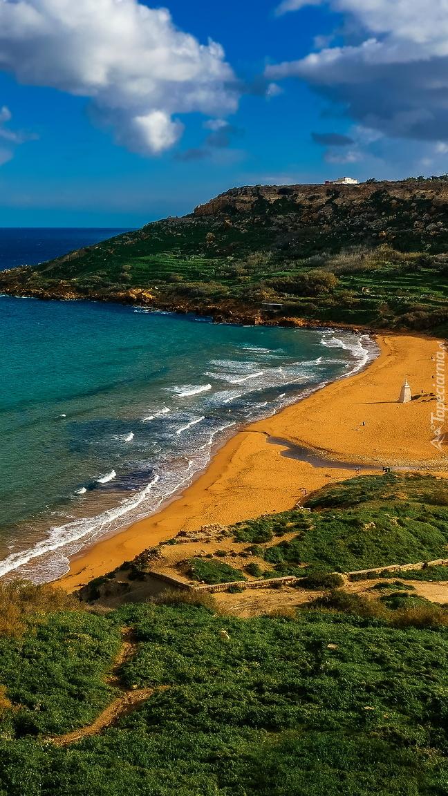 Plaża Ramla Beach na wyspie Gozo