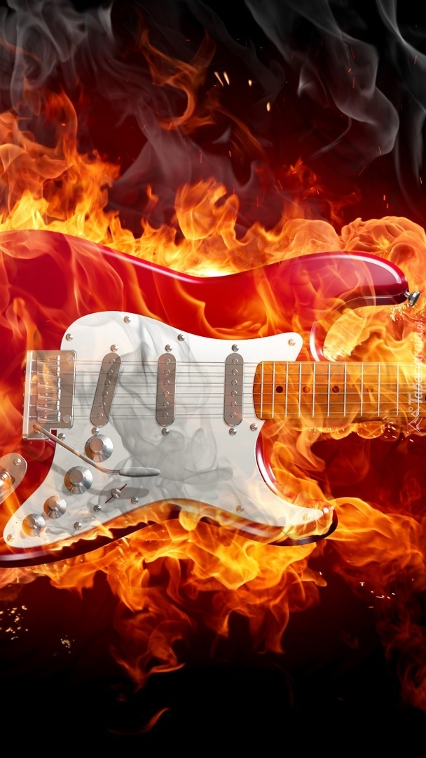Płonąca gitara
