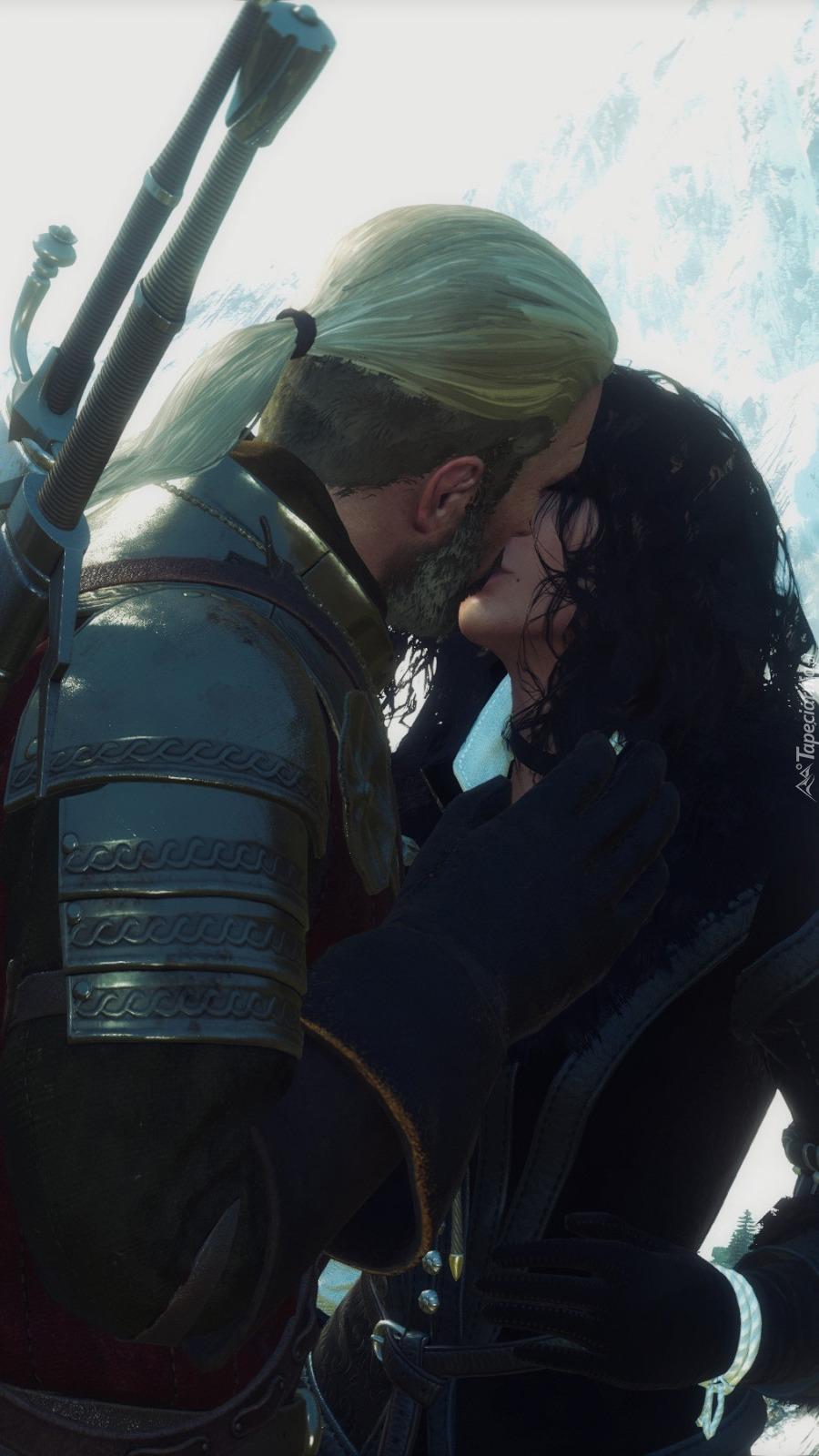 Pocałunek Geralta i Yennefer