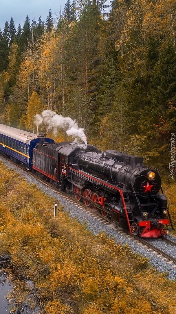 Pociąg z lokomotywa parową