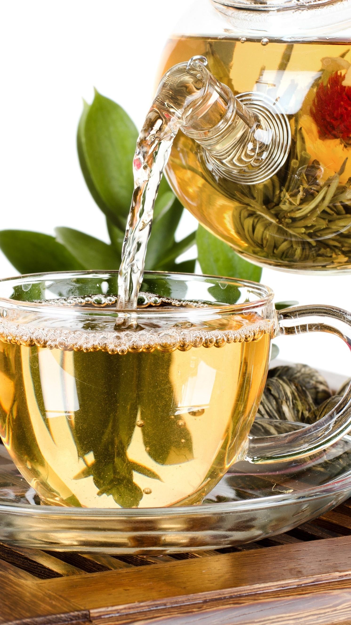 Podano zieloną herbatkę
