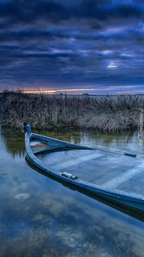 Podtopiona łódka