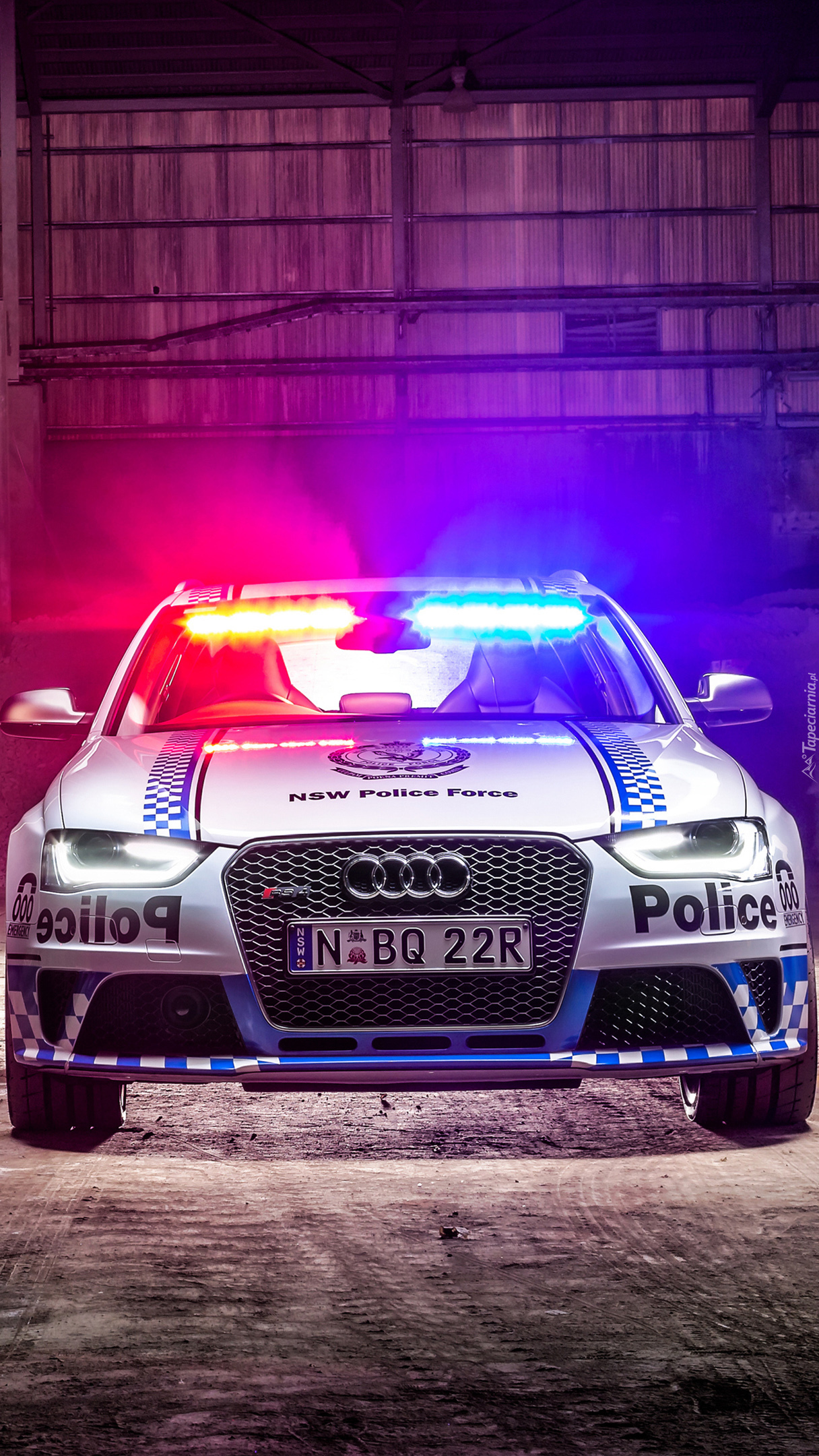 Policyjne Audi RS4 Avant