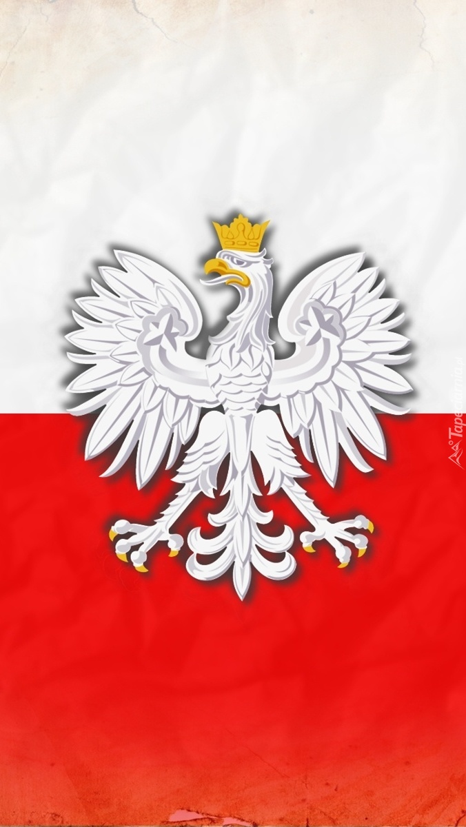 Polska flaga z godłem