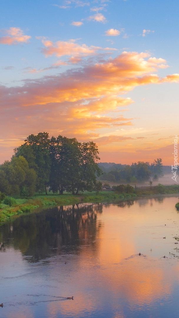 Poranek nad rzeką Gwda
