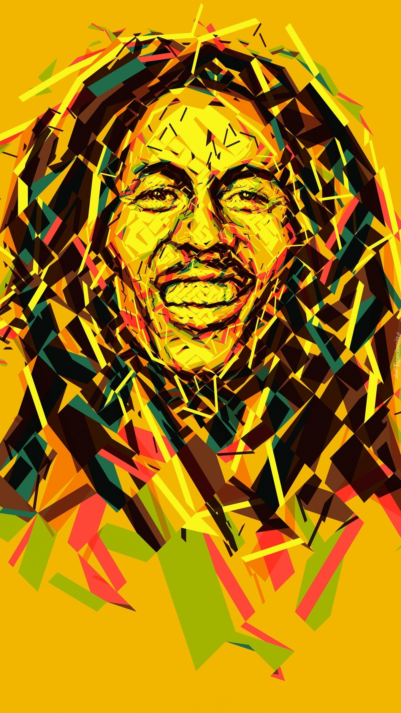 Portret Boba Marleya w grafice