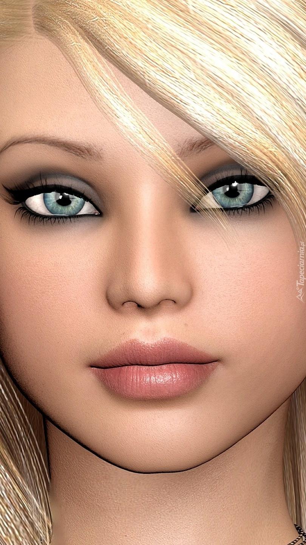 Portret dziewczyny z niebieskimi oczyma