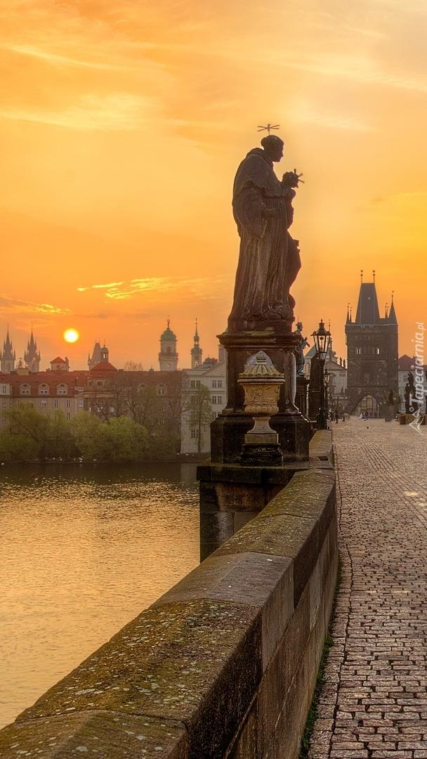 Posągi na moście Karola