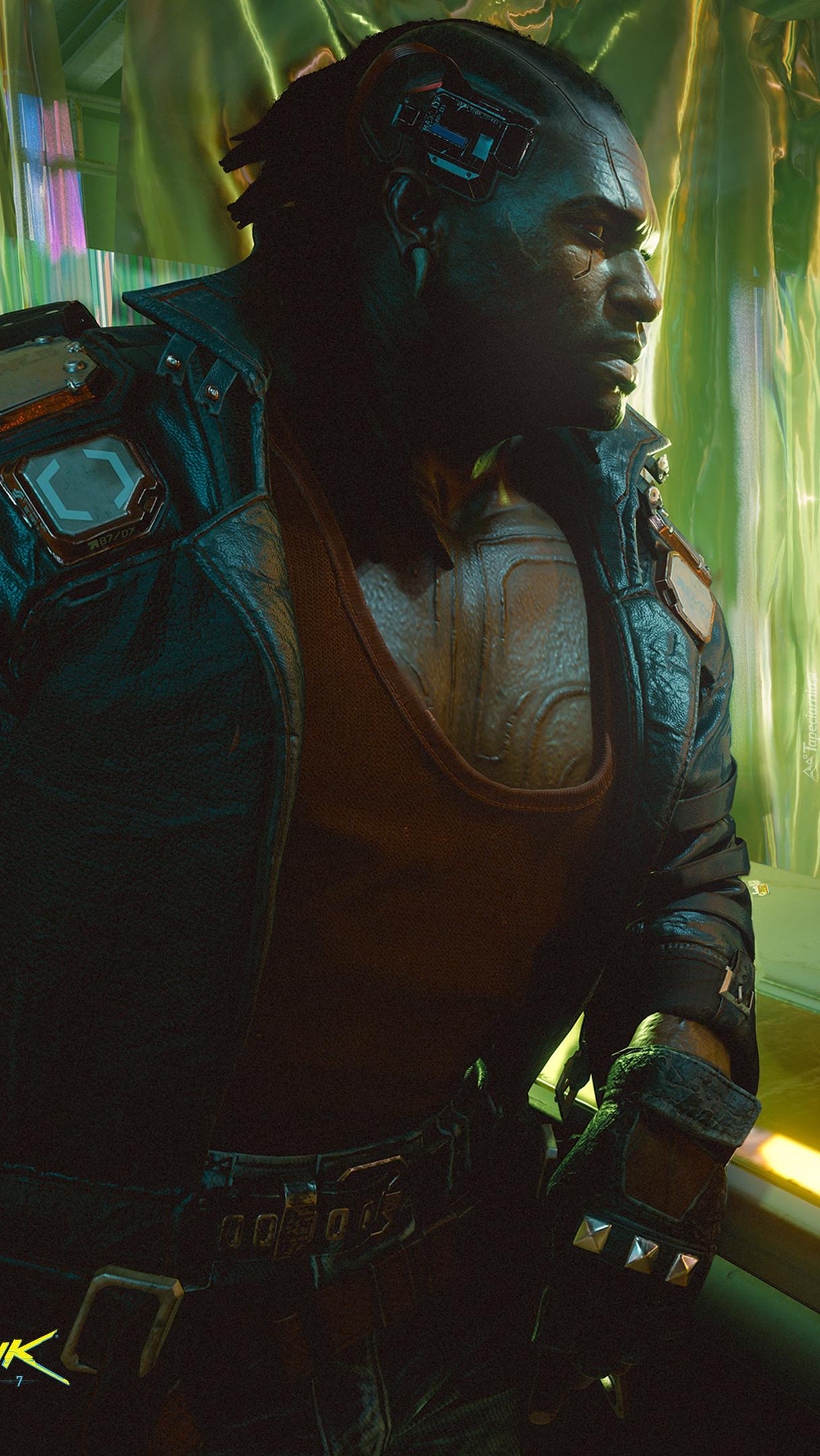 Postać z gry Cyberpunk 2077