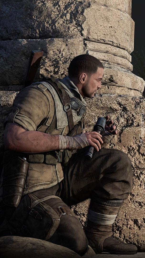 Postać z gry Sniper Elite 3