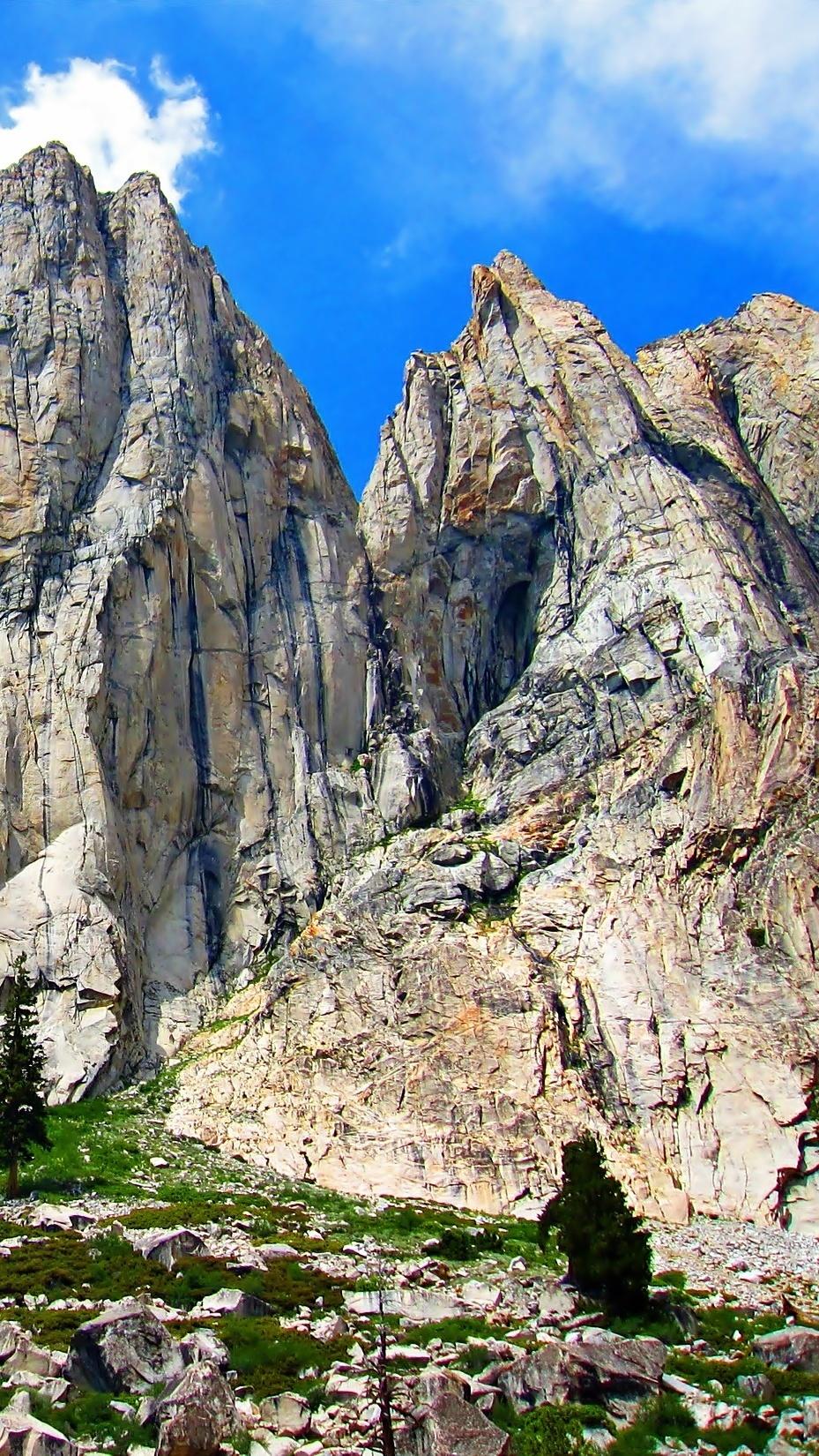 Potężne skały w Kalifornii