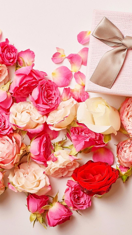 Prezent na sercu z róż