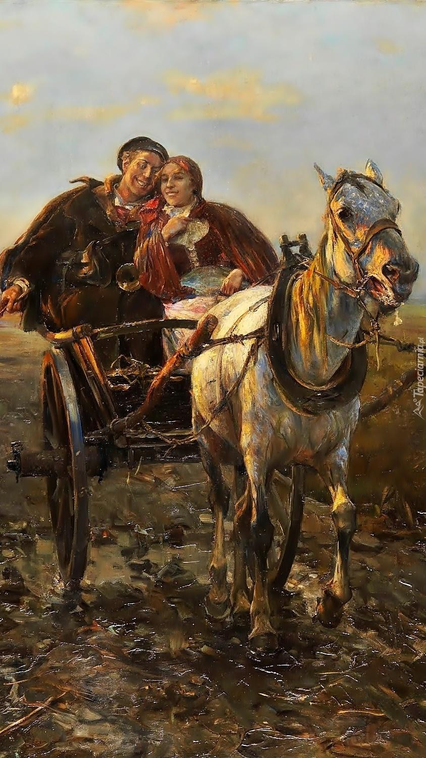 Przejażdżka na obrazie  Alfreda Kowalskiego
