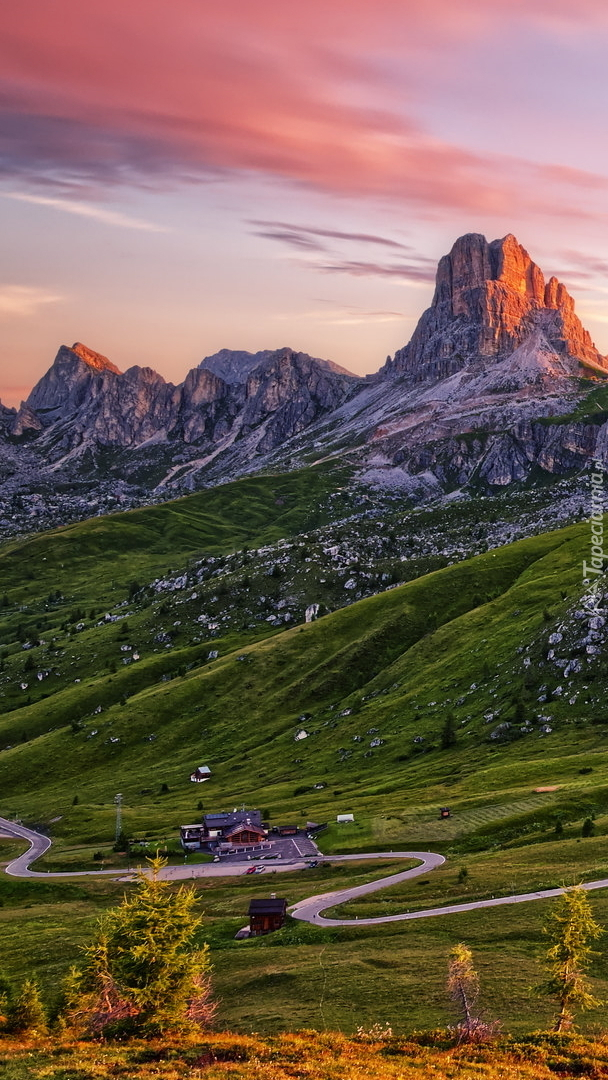 Przełęcz Giau Pass w Dolomitach