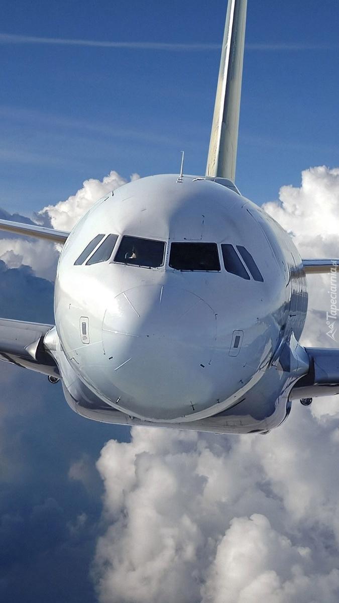 Przód samolotu w locie