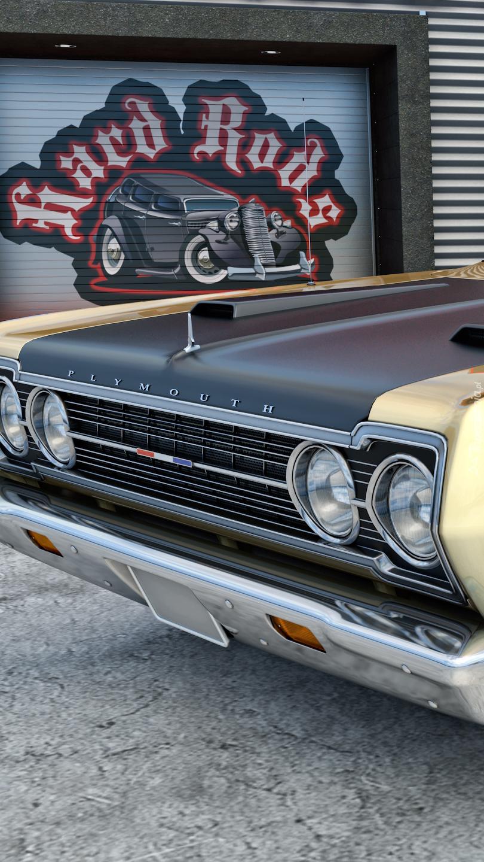 Przód zabytkowego auta Plymouth GTX rocznik 1967