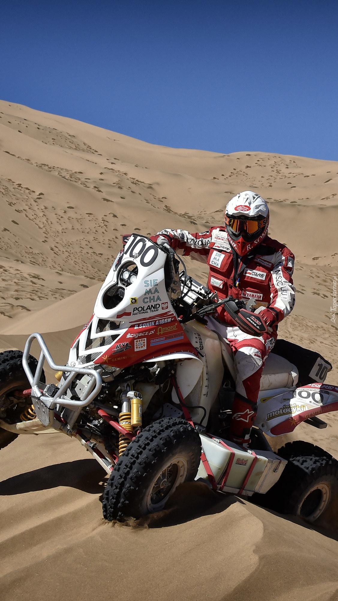 Rafał Sonik i jego quad Yamaha Raptor 700