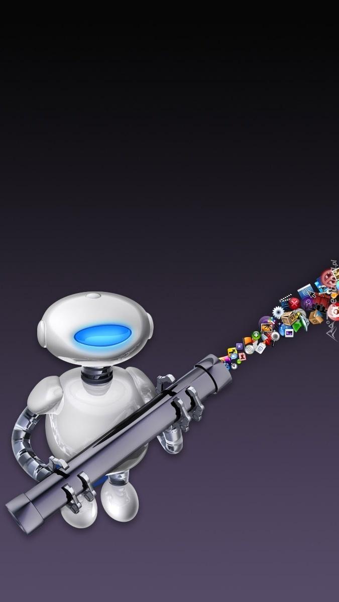 Robot z narzędziami