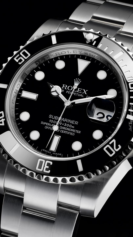 Rolex Submariner na czarnym tle