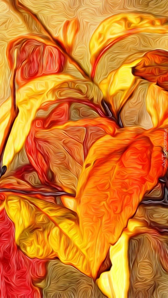 Roślina w grafice paintography