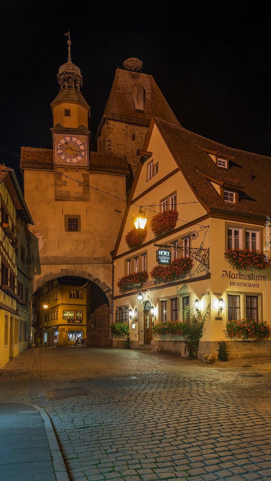 Rothenburg ob der Tauber nocą