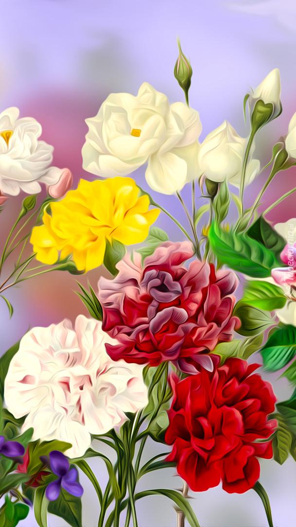Róże i goździki