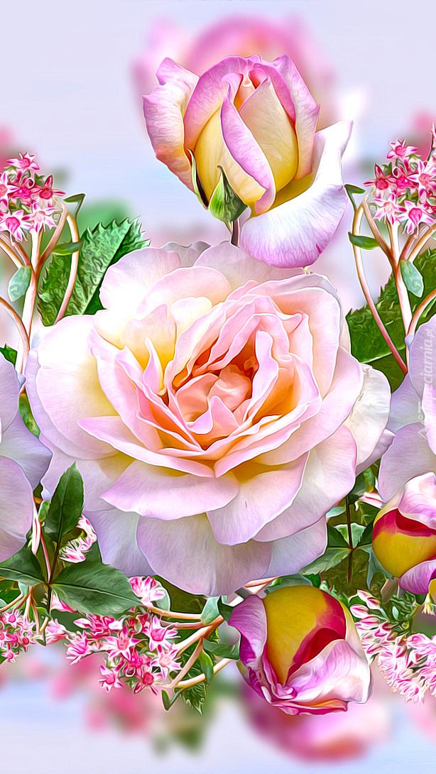 Róże w 2D