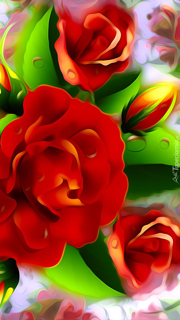 Róże w grafice 2D