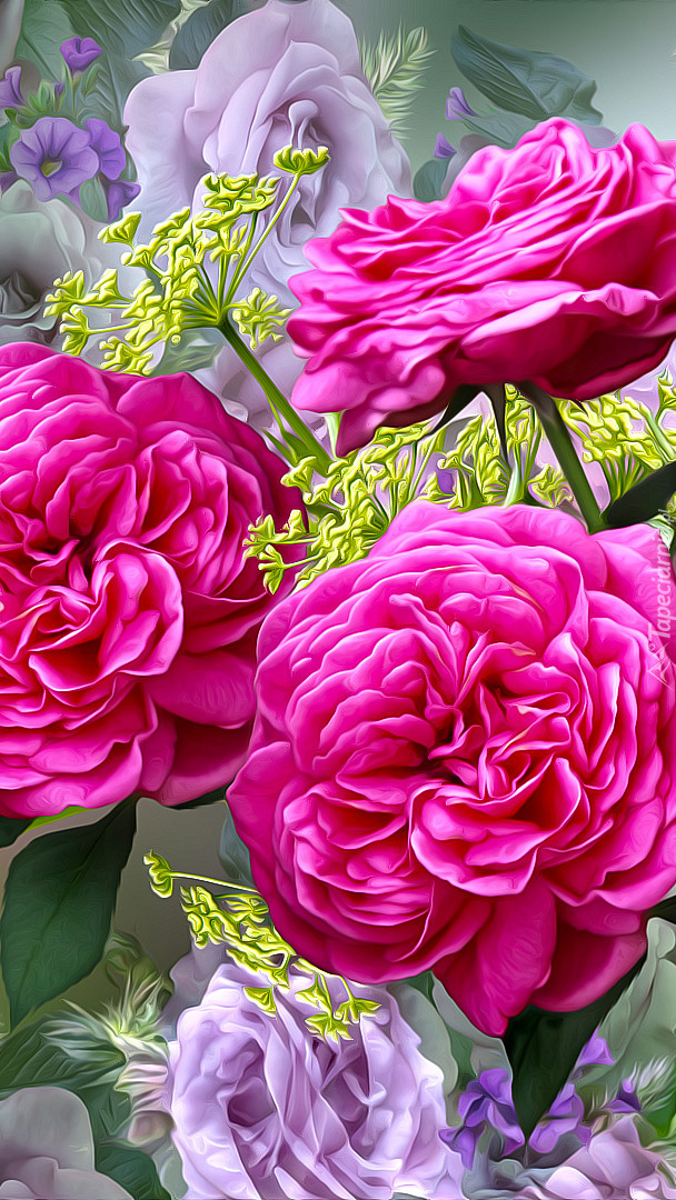 Róże w grafice