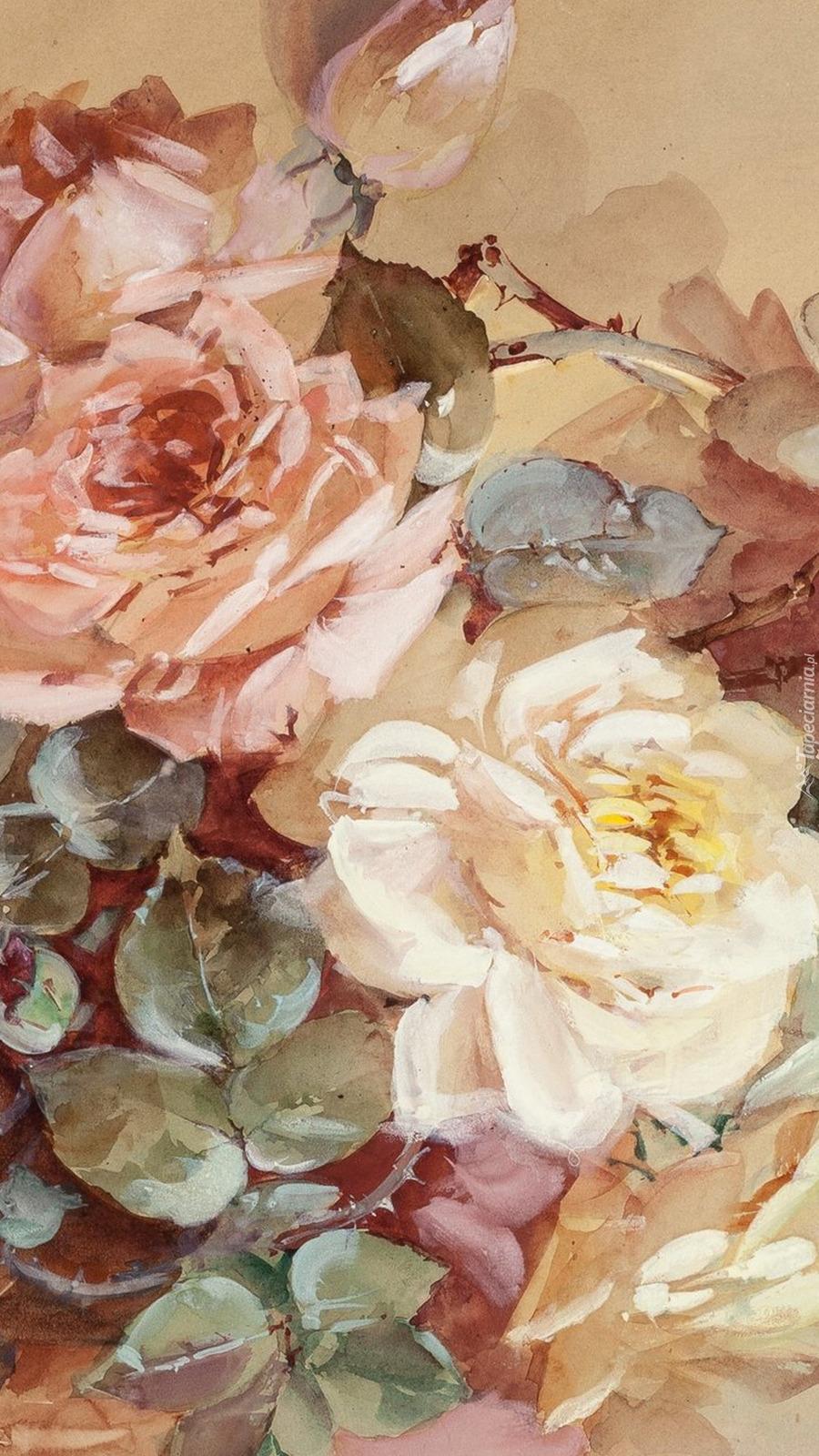 Róże w malarstwie Franza Bischoffa