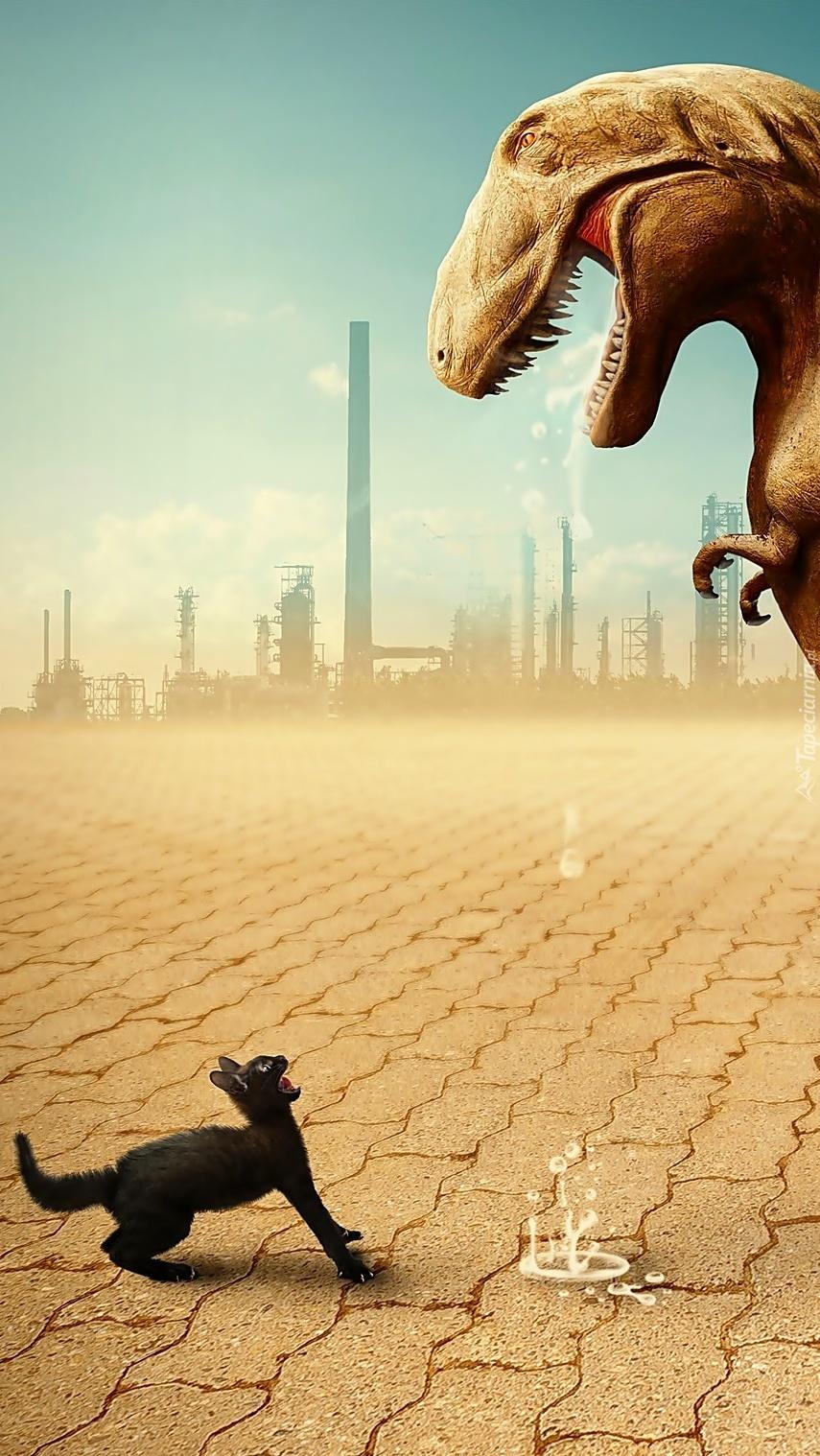 Rozmowa kota z dinozaurem